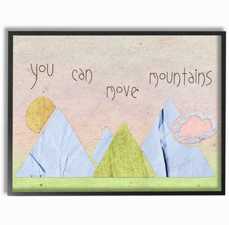 Möve Stupell You Can Mountains Collage Pink By Daphne Polselli Framed Art