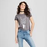 Zoe+Liv Women's Skeleton Hand Graphic T-Shirt Black - Zoe+Liv (Juniors')