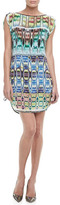 Milly Chloe Ikat-Print Drawstring Dress
