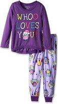 Komar Kids Big Girls' Owls Jersey BMJ Sleep Set