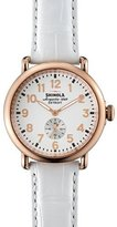 Shinola Runwell Rose Golden Watch with Alligator Strap, 41mm