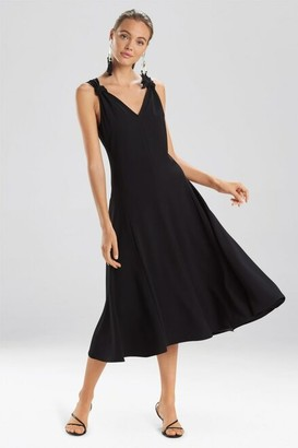 Natori Solid Crepe Tank Dress