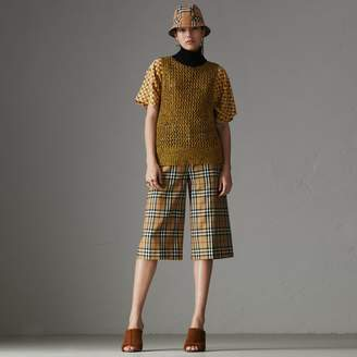 Burberry Vintage Check Wool Tailored Culottes