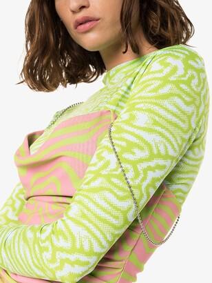 MAISIE WILEN Green Printed Mini Dress