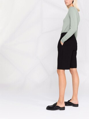 BA&SH Clara button-embellished jersey top