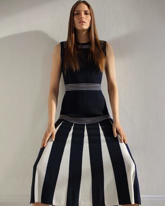Jigsaw Stripe Detail Knitted Maxi Dress