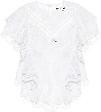Isabel Marant Zainos crochet cotton blouse