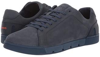 Swims Breeze Tennis Leather (Navy) Men's Shoes