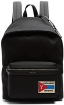 Saint Laurent Classic patch-detail twill backpack
