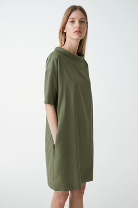 Cos Wide Stand-Up Collar Dress