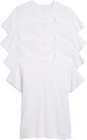 Calvin Klein Underwear 4 Pack Cotton Classic Short Sleeve V Neck Tee
