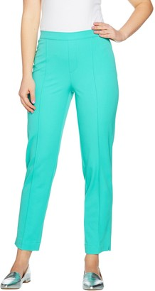 Isaac Mizrahi Live! Tall 24/7 Stretch Ankle Pants with Pintuck