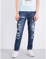 Anglomania Distressed regular-fit tapered jeans