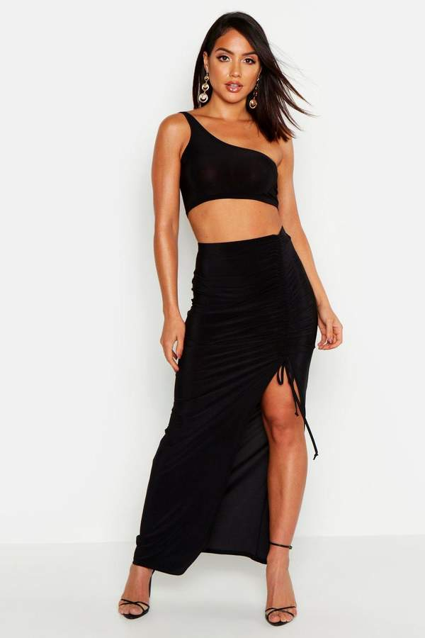 on wholesale 2018 sneakers huge sale Long Ruched Maxi Skirt - ShopStyle