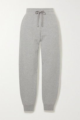 Vince Melange French Organic Cotton-blend Terry Track Pants - Gray