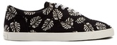 Dolce & Gabbana Palm-print Canvas Trainers
