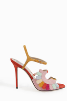 Paula Cademartori Multi Colour Suede Sandals
