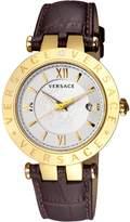Versace Men's V-Race White Dial Stainless Steel Medusa Watch, 42mm