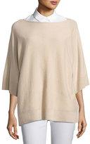 Lafayette 148 New York Cashmere Dolman-Sleeve Oversized Sweater, Bisque