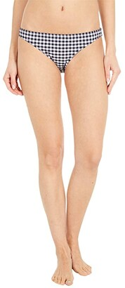 J.Crew Lowrider Bikini Bottoms in Matte Gingham (Prospect Gingham Black/Ivory) Women's Swimwear