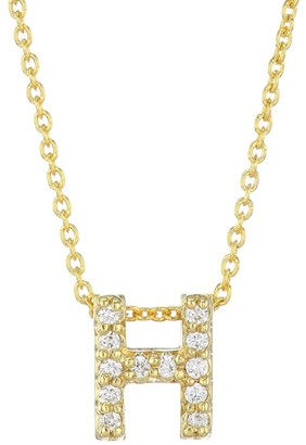 Roberto Coin Tiny Treasures Diamond & 18K Yellow Gold Letter H Pendant Necklace