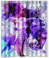 """Creative Bath Customized Elephant New Design For Shower Curtain 72"""" x 72"""""""