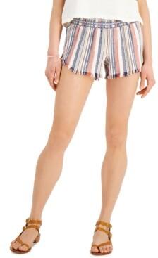 Rewash Juniors' Smocked Striped Shorts
