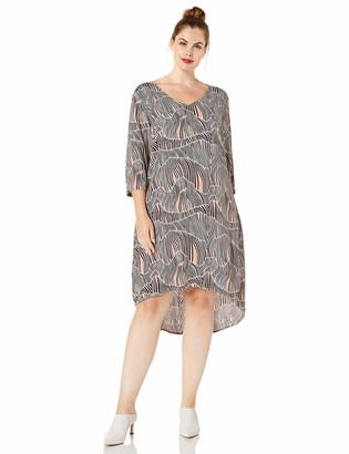 Junarose Women's Plus Size Kalilla Zeenan High Low Dress