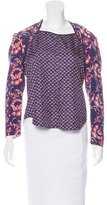 Veronica Beard Floral Print Silk Top