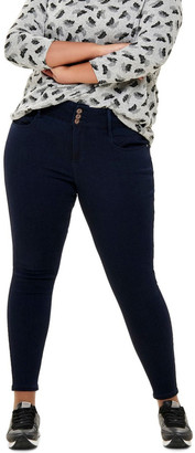 Only Anna Ankle Jeans Dark Blue