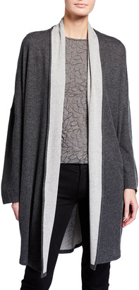 Majestic Filatures Double-Face Cotton-Cashmere Relaxed Cardigan