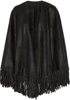 RtA Stevie fringed leather cape