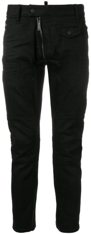 DSQUARED2 Leather Biker jeans