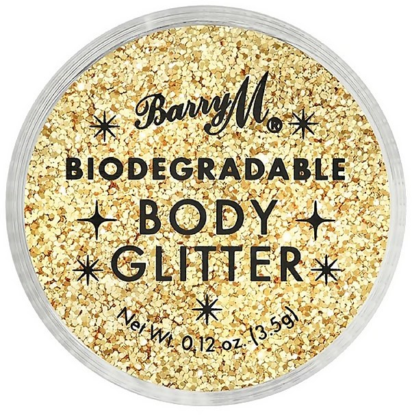 Barry M Cosmetics Biodegradable Body Glitter 3.5ml (Various Shades) - Gold Mine
