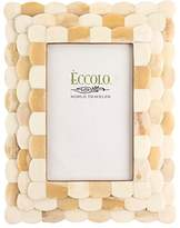 Eccolo Naturals Frame, 4 by 6-Inch, Scalloped Edge Ivory