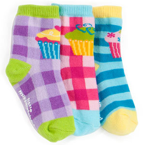 LittleMissMatched Zany Cupcake Toddler Socks