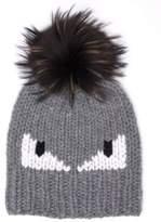 Fendi Monster Fur-Pom Wool Hat