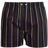 Derek Rose - Classic Fit Striped Cotton Poplin Boxer Shorts - Mens - Multi