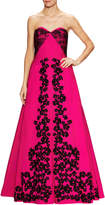 Oscar de la Renta Women's Lace And Floral Embroidered Gown