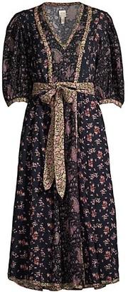 Rebecca Taylor Printed Floral Midi Dress