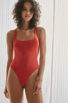 Out From Under Olivia Seamless Bodysuit - red M at Urban Outfitters