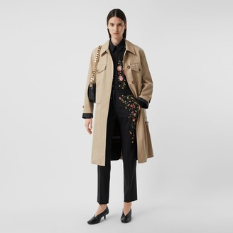 Burberry Cotton Belted Car Coat with Detachable Warmer