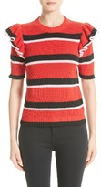 MSGM Women's Ruffle Stripe Sweater