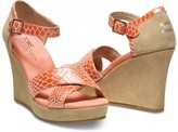 Toms TOMS+ Coral Serpentine Strappy Wedges