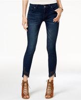 Rampage Juniors' Asymmetrical-Hem Rivington Wash Skinny Jeans
