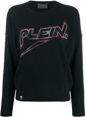 Philipp Plein space logo pullover
