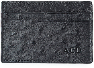 Abas Men's Flat Ostrich Card Case