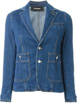 DSQUARED2 denim blazer - women - Cotton/Spandex/Elastane - 42