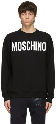 Moschino Black Cotton Logo Sweatshirt