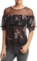 BB Dakota Rayna Embroidered Illusion Top